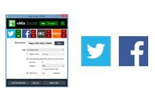 Aplicació vMix Social